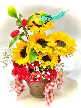Sunflower w- Birds Arrangement 1.jpeg
