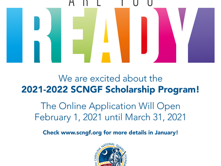 NOW OPEN! 2021-2022 SCNGF Scholarship Application