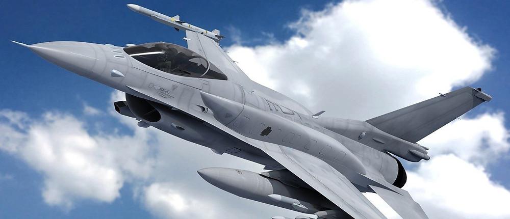 The F-16 Flighting Falcon.