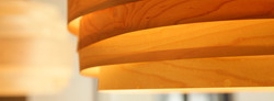 warm lighting with maple veneer