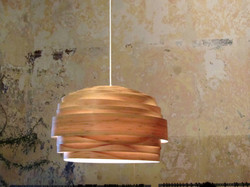 Light Cloud Lamp Bamboo Veneer
