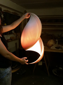 Wind Lampshade in the making