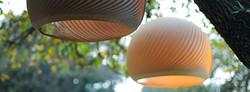 handmade veneer lamp maple or walnut