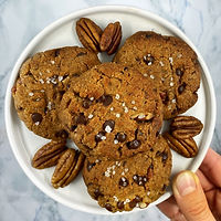 toasted pecan gingerbread cookies