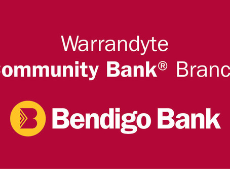 Thankyou to Warrandyte Community Bank!