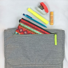 Front Pocket Fits Average Sized Pencil Pouch