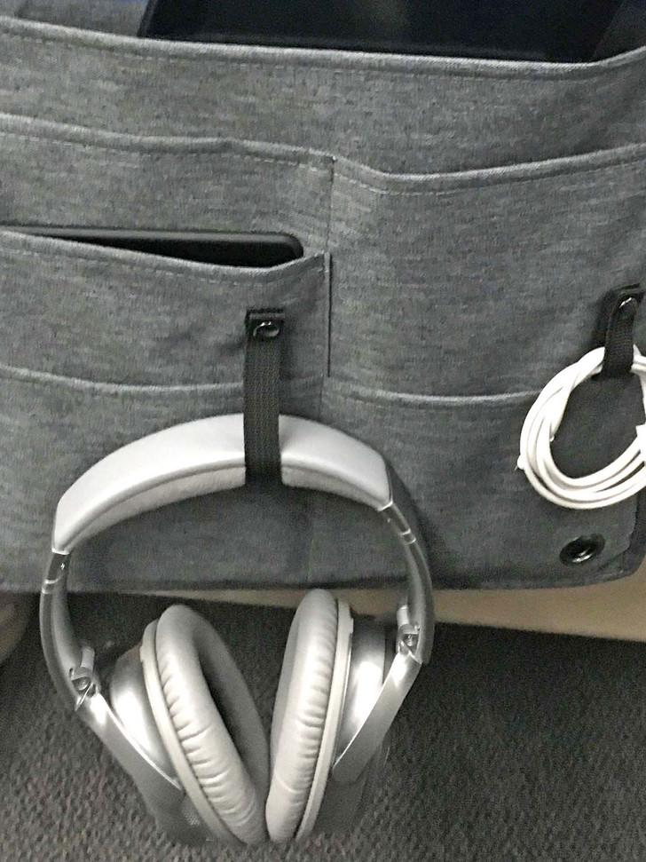 Hang headphones when not in use