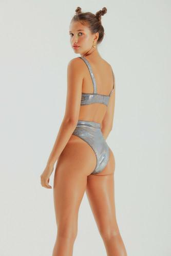 ec370cd67 hot pants britt • silver holographic