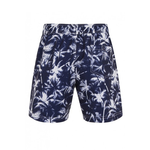 Blue And White Draw String Swimming Shorts Perfect For Summer Holidays Side Back Pockets Mesh Lined