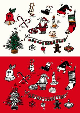 超かわいいクリスマス手書きイラスト画像素材と書き方