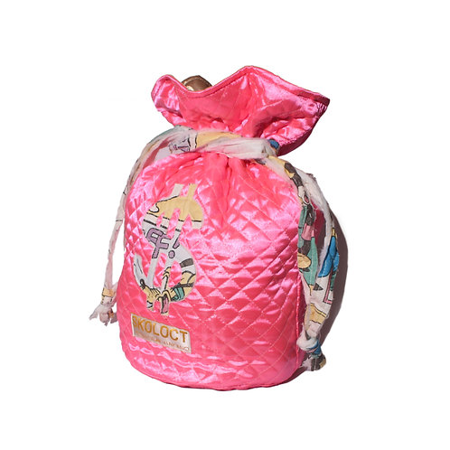 Skoloct Quilting Moneybag Pink