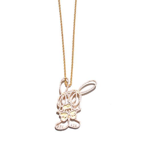 """Ghosko"" Skoloct × Ghost Neck Lace/ Gold"