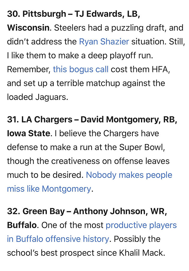 Big Lead's 2019 NFL Mock Draft Finds True Blue in Round 1 | Home