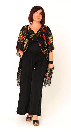 Chaka Silk Georgette Jacket in The Night Garden Print