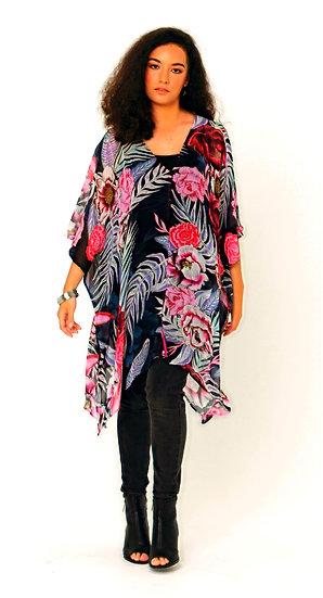 Chaka Silk Georgette Jacket In Purple Reign Pring
