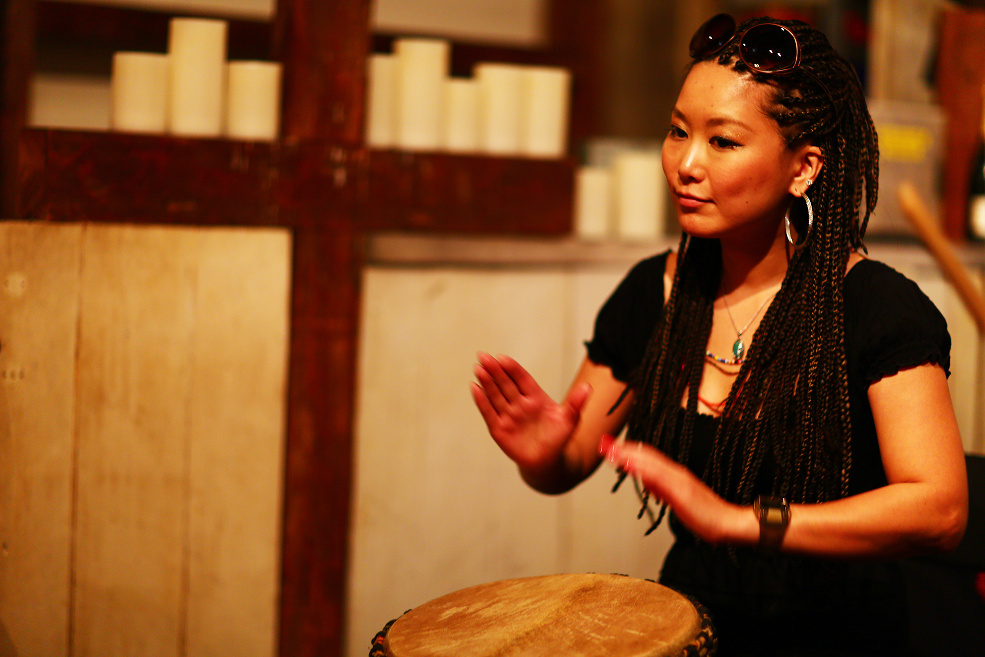 Djembe Lesson at Absinthe