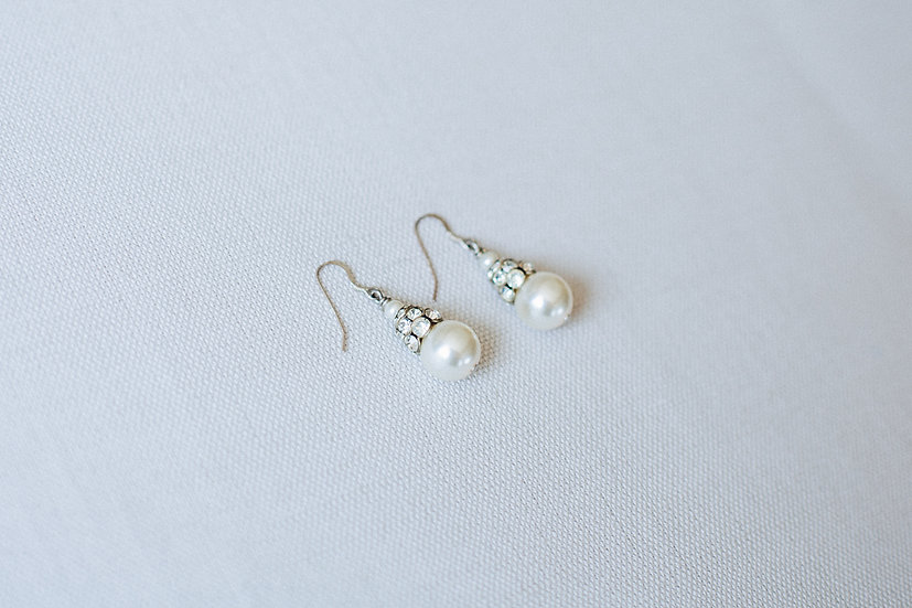 Large Pearl and Paste Earrings