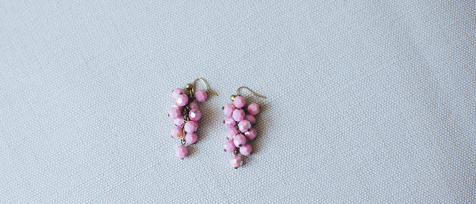 Pink Aurora Borealis Droplet Earrings