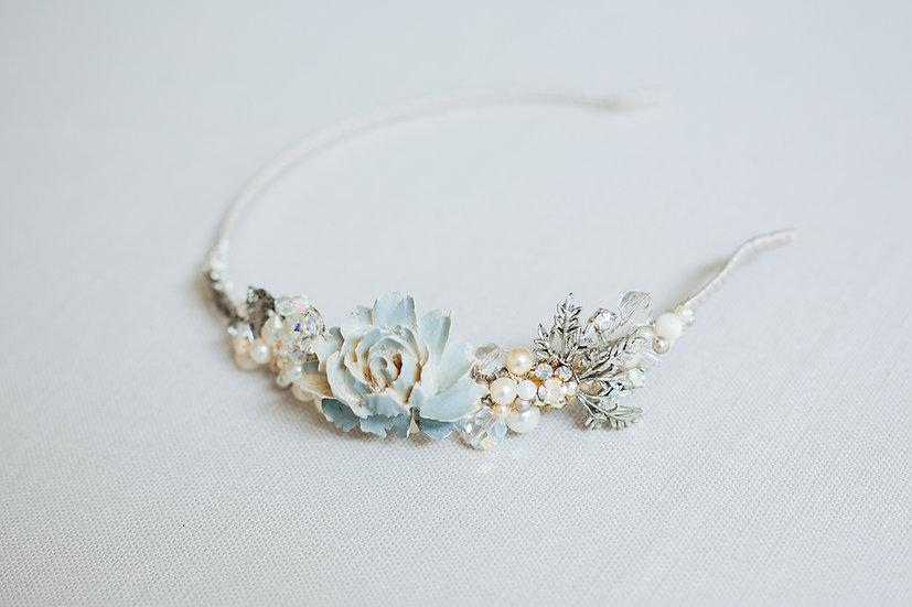 Blousy Blue Flower Headband