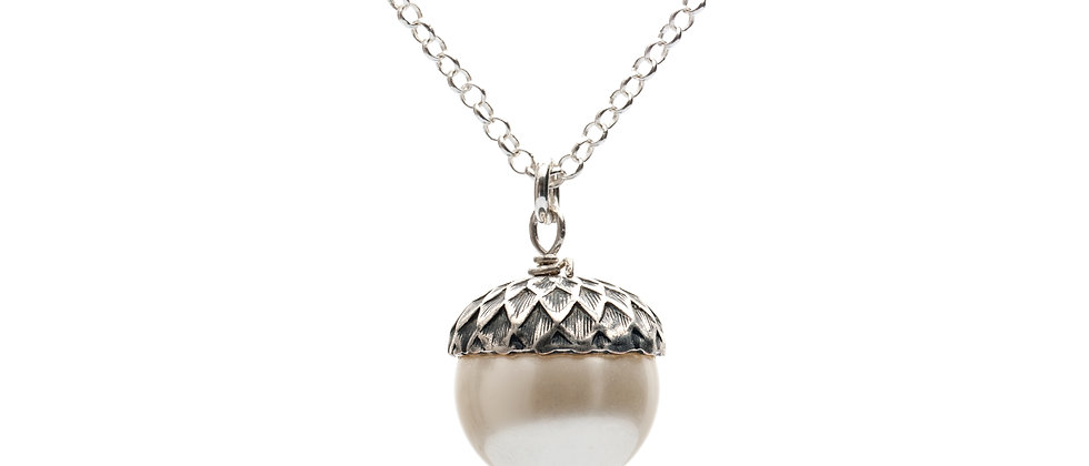 Petworth Pearl Acorn Pendant Necklace