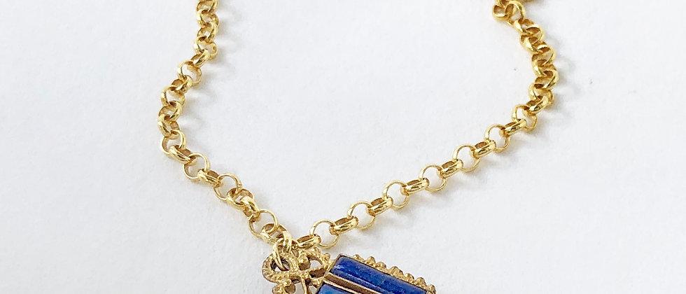 Lapis charm bracelet