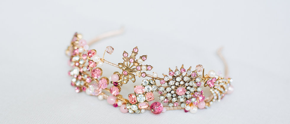 Pink Jewelled Tiara
