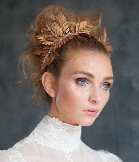 Gilded Fern Tiara