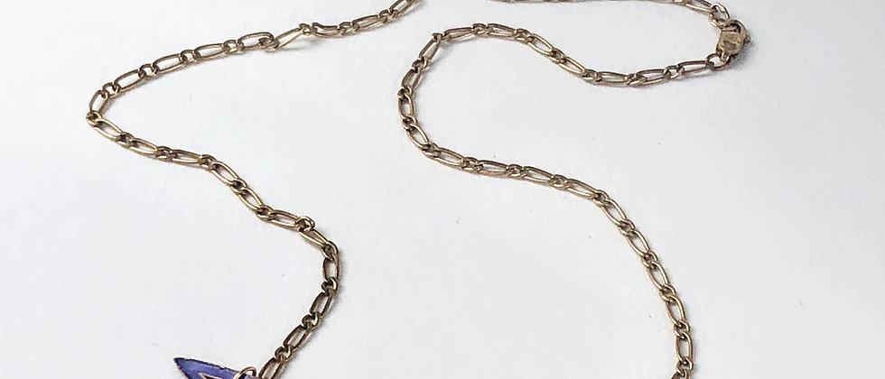 Antique enamel and paste necklace