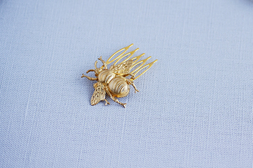 Golden Bee hair comb