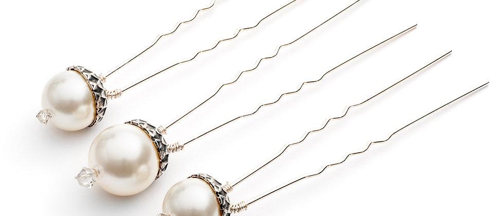 Petworth Pearl Acorn Set of 3 hair pins