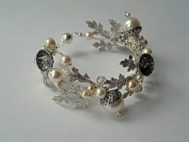 Petworth Pearl Acorn Cuff Bracelet