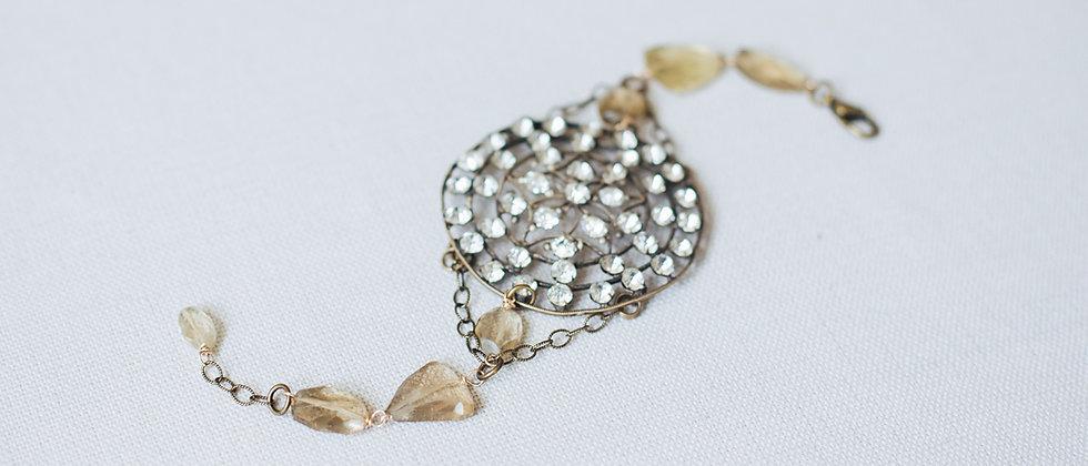 Ornate Filigree Circle Bracelet
