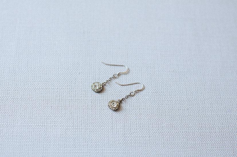 Tiny Paste Chain Drop Earrings