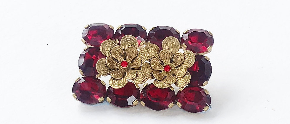 Red Romance Brooch/Hair Slide