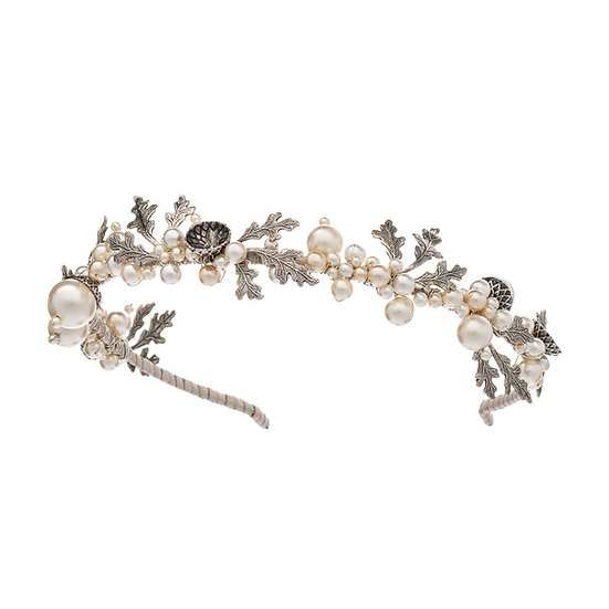 Silver Petworth Pearl Acorn headband