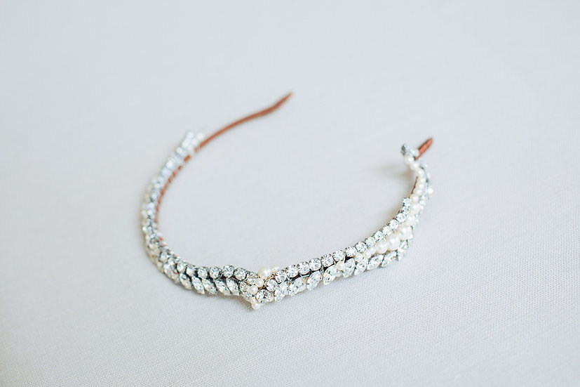 Diamante and Pearl Headband