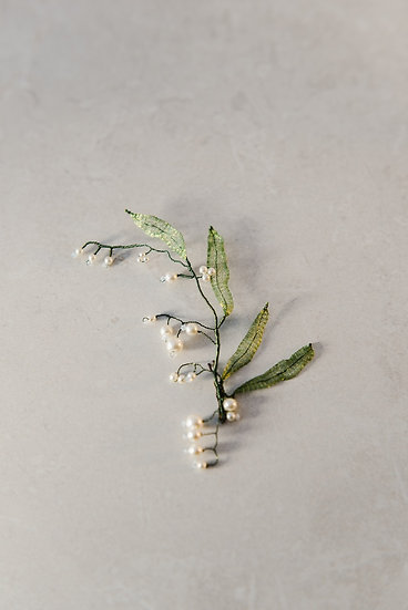 Lily of the Valley Spray Hair Slide