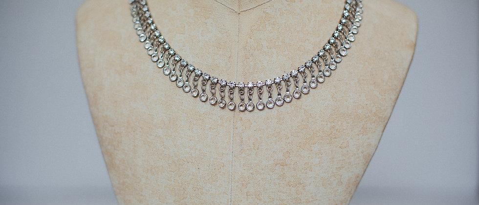 Butler and Wilson Diamante Droplet Necklace