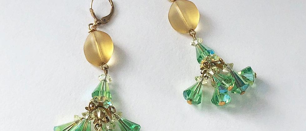 Lemon and Lime crystal earrings
