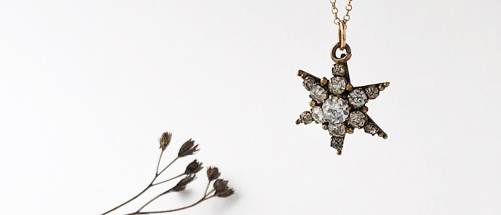 Victorian paste star necklace
