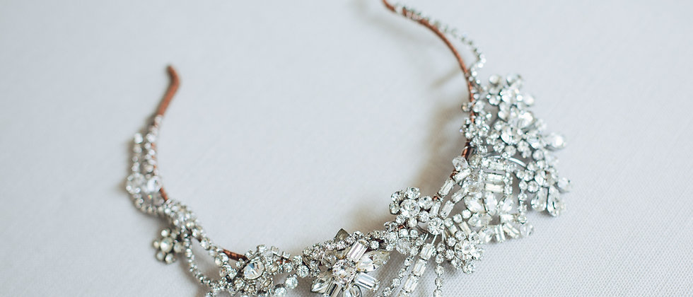Diamante Asymmetric High Drama Headband
