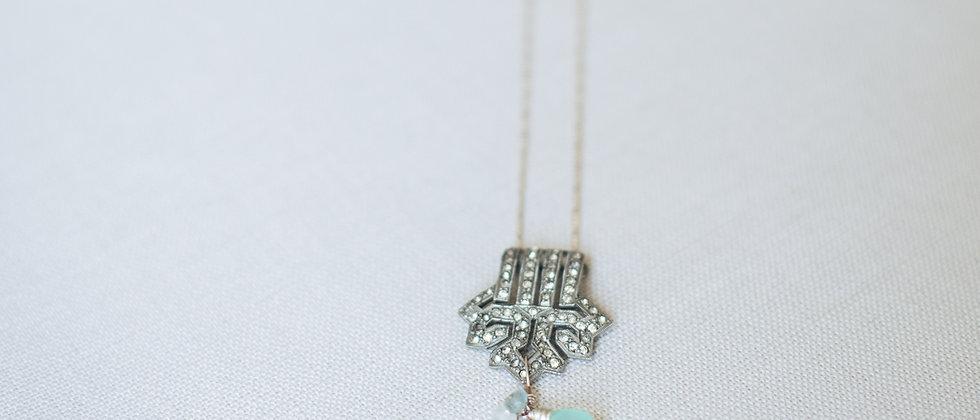 Vintage Paste Lariat Necklace