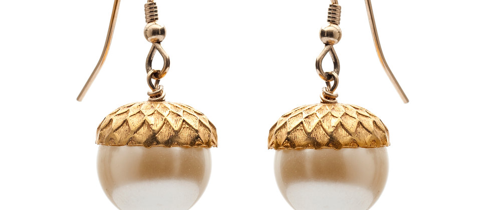 Petworth Pearl Acorn Earrings