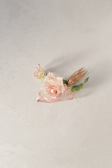 Orchid Bloom hair comb