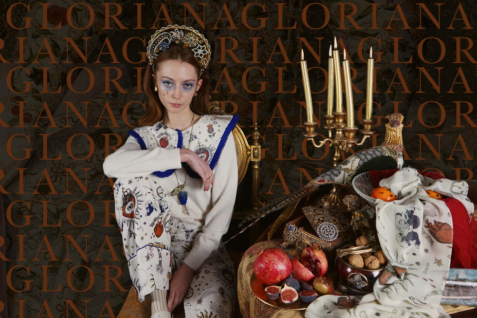 Accessorising 'Gloriana', the festive collection from Olivia Annabelle Apparel