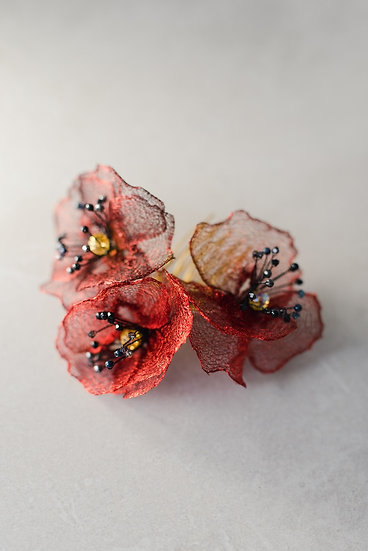 Poppy Bloom hair comb