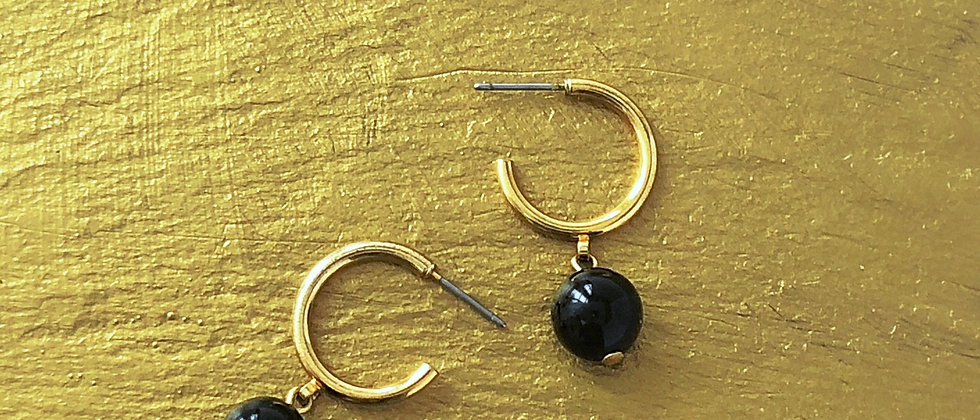 Napier 80s Black and Gold hoops