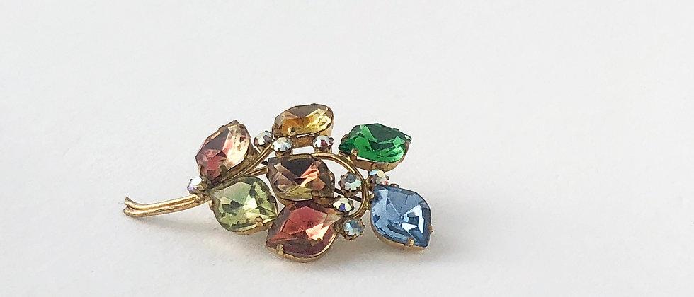 1950s Rainbow Crystal Leaf