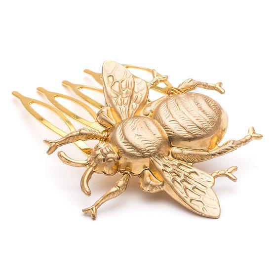Golden Bee hair comb