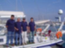 Antonio Gades e l'equipaggio del LUAR 040